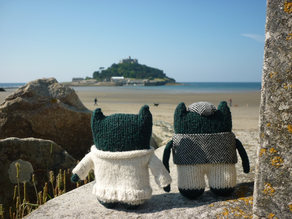 Paddy and Plunkett at St Michael's Mount