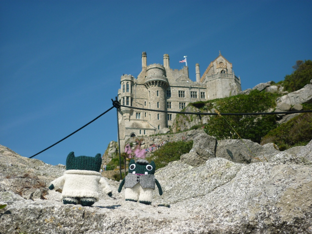 The castle on St Michael's Mount - Paddy and Plunkett - CrawCrafts Beasties