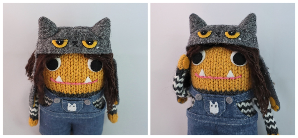 Beastie Girl in Cat Hat - Commissions by CrawCrafts Beasties
