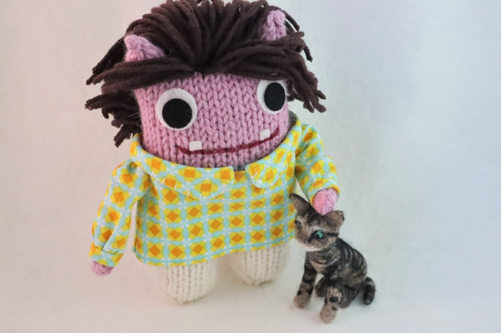 Beastie with Felted Kitty, by CrawCrafts Beasties