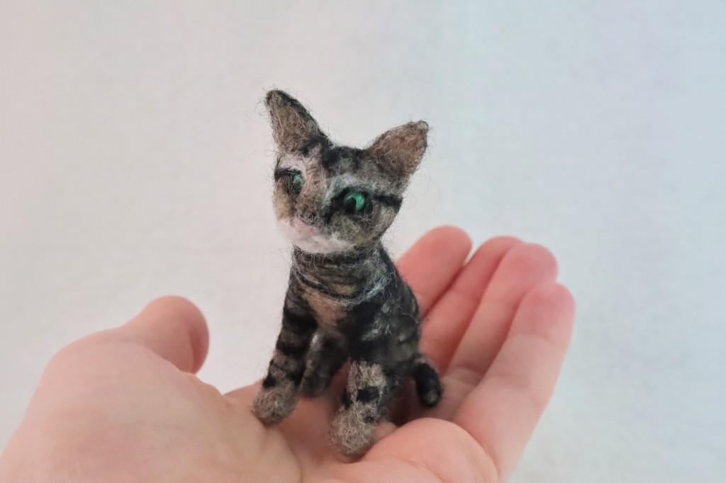 Needle-felted Beastie Kitty by CrawCrafts Beasties