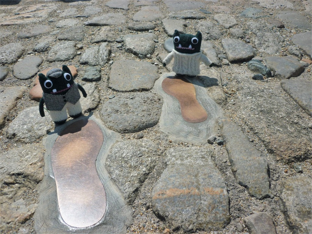 Famous Feet on St Michael's Mount - H Crawford/CrawCrafts Beasties