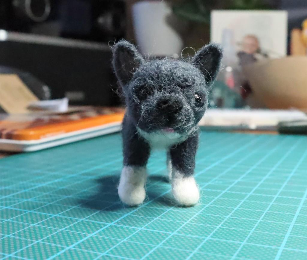 Penelope the Frenh bulldog - CrawCrafts Beasties