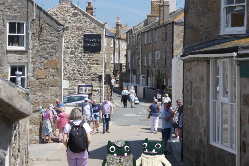 Paddy and Plunkett in St Ives - H Crawford/CrawCrafts Beasties