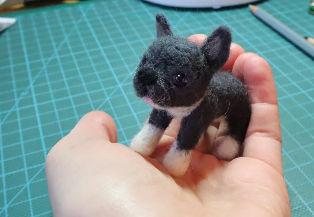 Mini Penelope - Teeny needle-felted dog by CrawCrafts Beasties