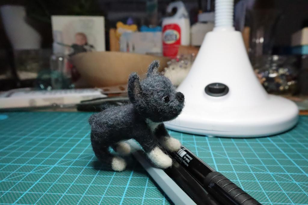 Exploring my work table - Beastie Bulldog Commission by CrawCrafts Beasties